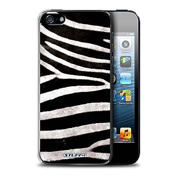 Carcasa/Funda STUFF4 dura para el Apple iPhone 5/5S / serie: Efecto piel de los animales/patrón - Cebra