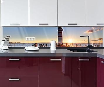 Küchenrückwand Leuchtturm mit Pier Nischenrückwand ...