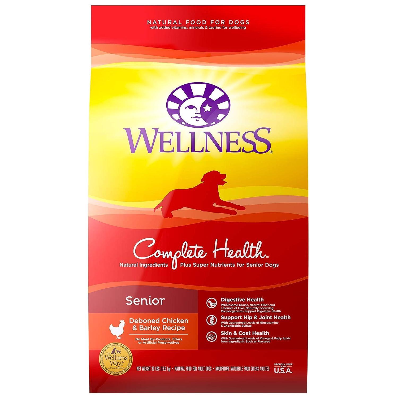 3. Wellness Complete Health Senior Deboned Chicken & Barley Recipe Dry Dog Food