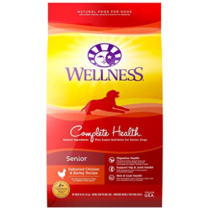 Wellness Complete Health Natural Dry Senior Dog Food - Overall Best Dog Food with Glucosamine