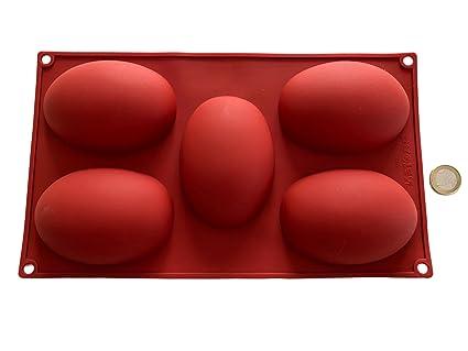 6 grandes huevos molde de cocción molde de silicona Pascua primavera verano molde del chocolate del