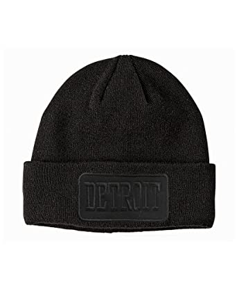 Made In Detroit Beanie - Detroit Patch - Black w Black at Amazon ... 5e4a4e36840