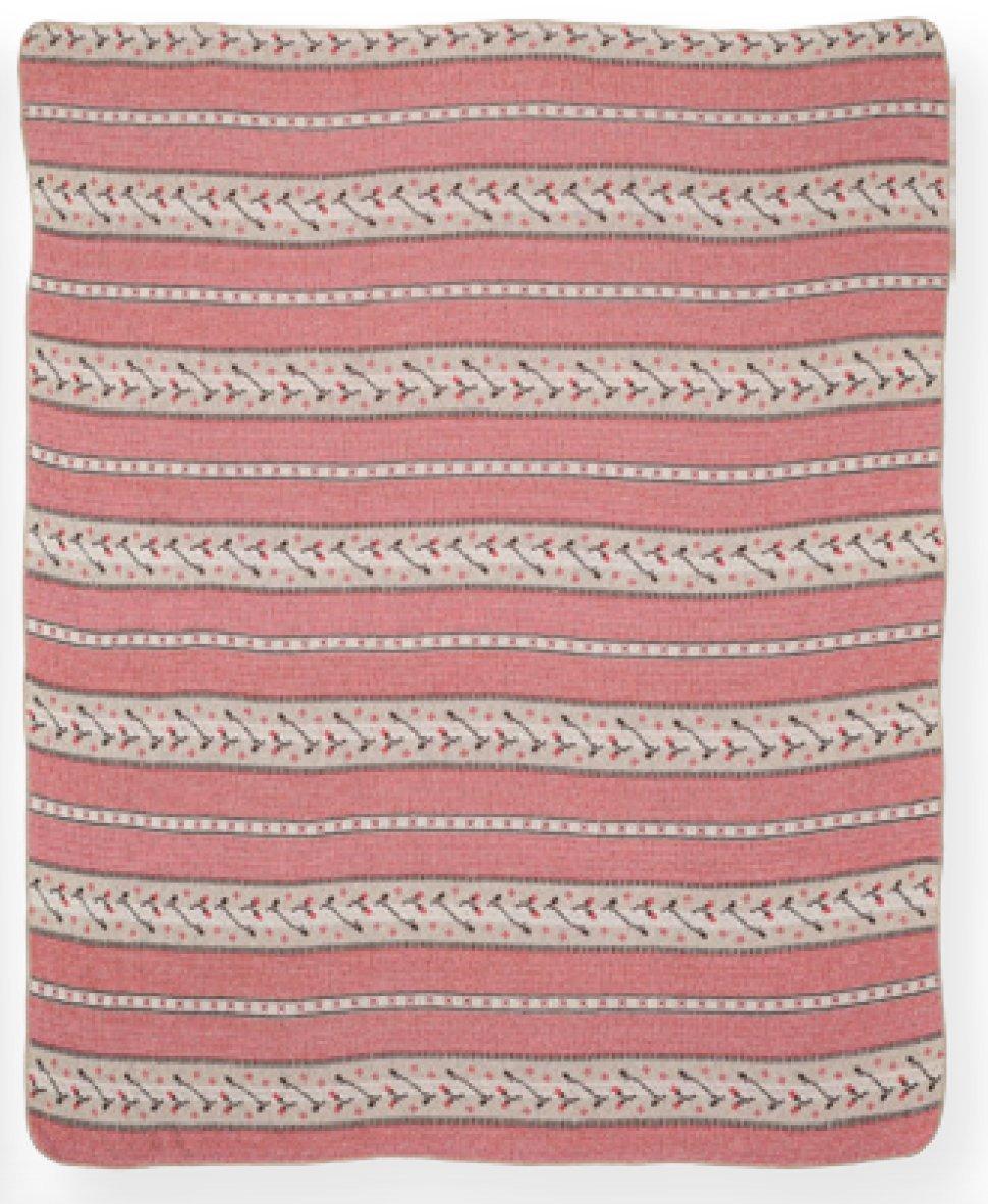 Green 3 433-120 Blanket-Throw Stripe