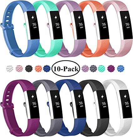 12 Pack Fitbit Alta HR Replacement Bands  Sports Bracelet Wristband Size S//L