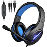 CLS-100 Gaming Headset (3.5mm Surround Sound, Locate Enemy's Positions by Voice) Mic Cancel Over-Ear Gaming Headphones…