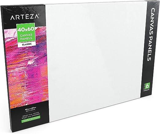 Arteza Paneles de lienzo para pintar cuadros | 40x60 cm | Pack de ...