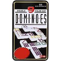 Jonquin Plastic Double 9 Domino Game Set with 55 Tiles (Multicolour, 4911)