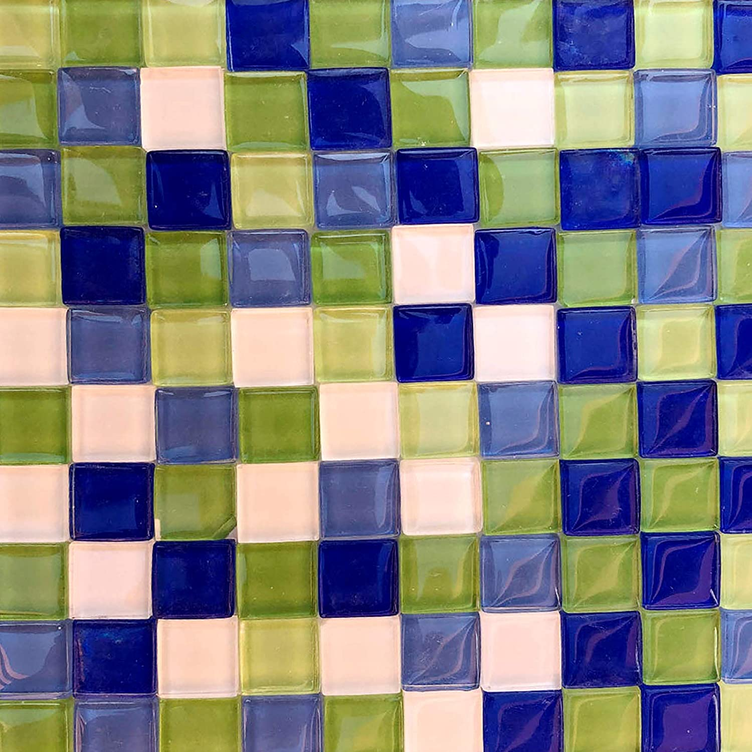 Opaque Square Mosaic Tiles for Crafts,200g Bulk Mosaic Glass Pieces for DIY Crafts, Plates, Coaster,Picture Frames - Mosaic Making Supplies in 5 Colors(1.5x1.5cm)