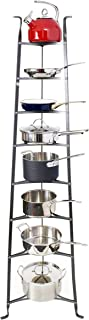 product image for Handcrafted 8-Tier Cookware Stand Hammered Steel (Unassembled)