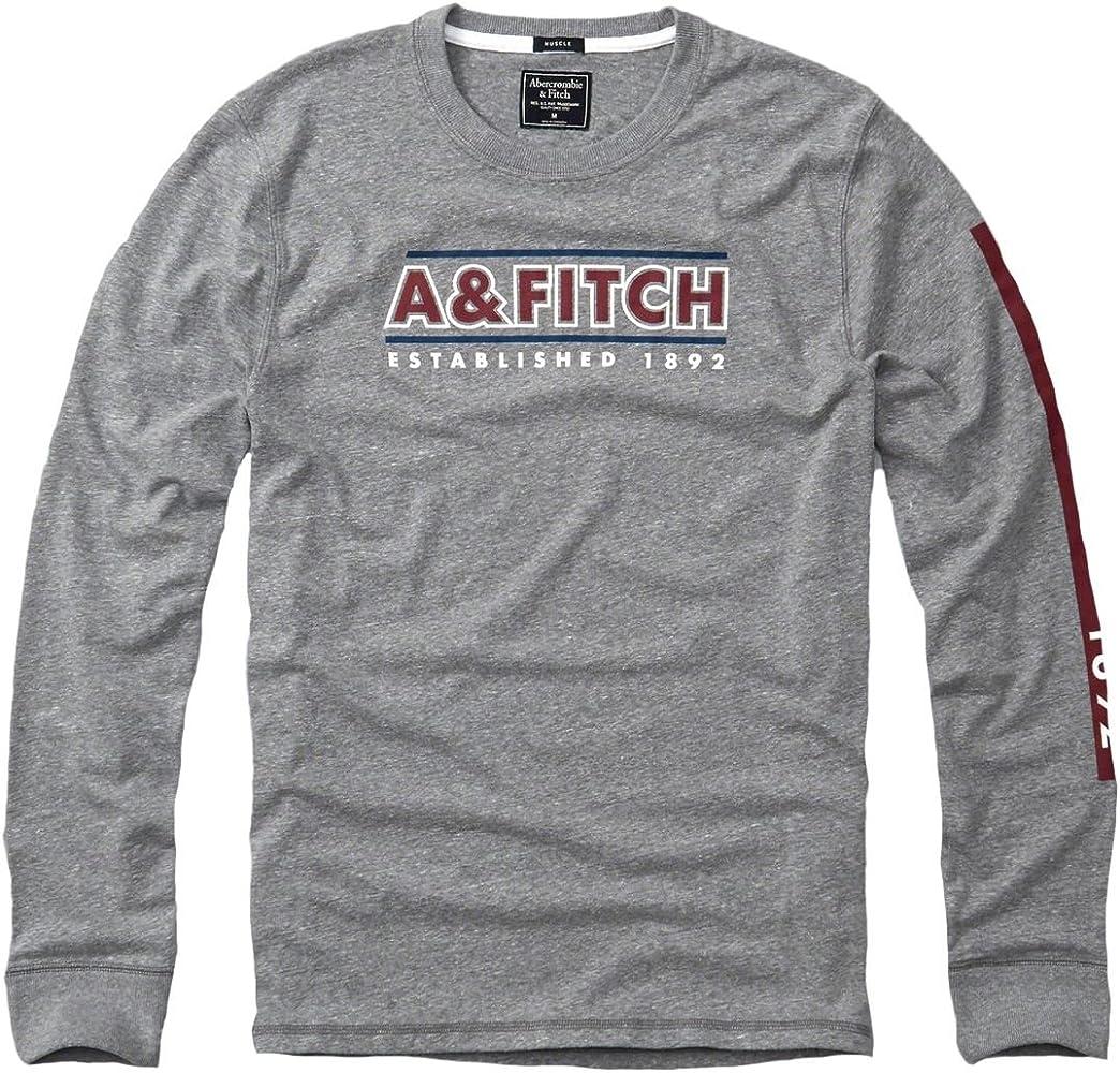 Abercrombie para hombre Graphic camiseta de manga larga T-Shirt ...