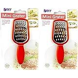 "2 Pack Stainless Steel Mini Grater Cheese Garlic Nutmeg Chocolate 5"" BPA Free"