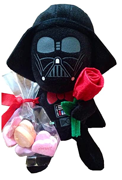 Amazon Com Valentine S Day Star Wars 6 Darth Vader Plush With Rose