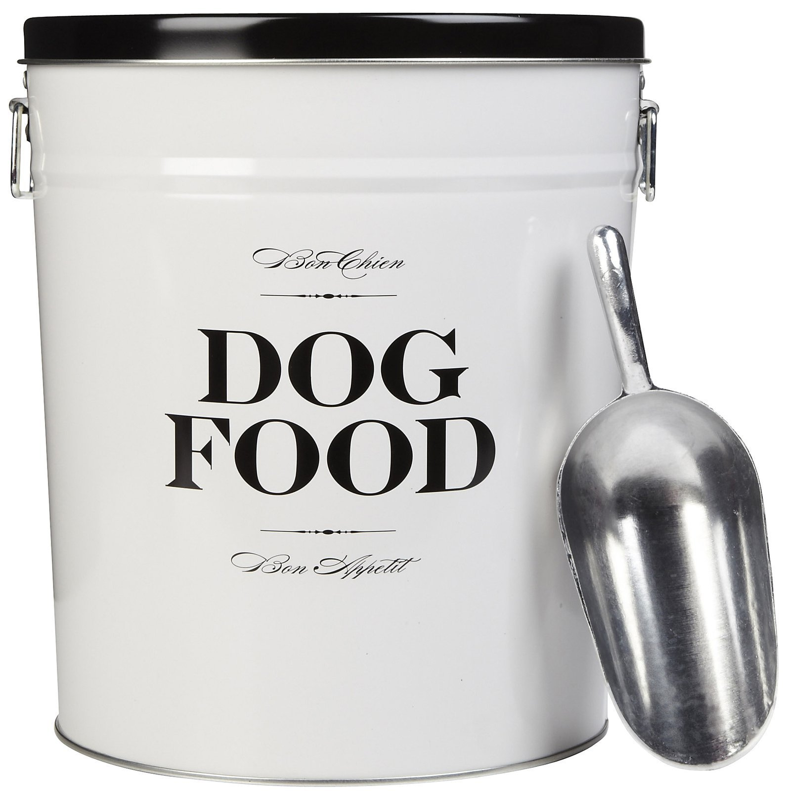 Harry Barker Dog Food Storage Canister - Bon Chien - Black - 40 lb