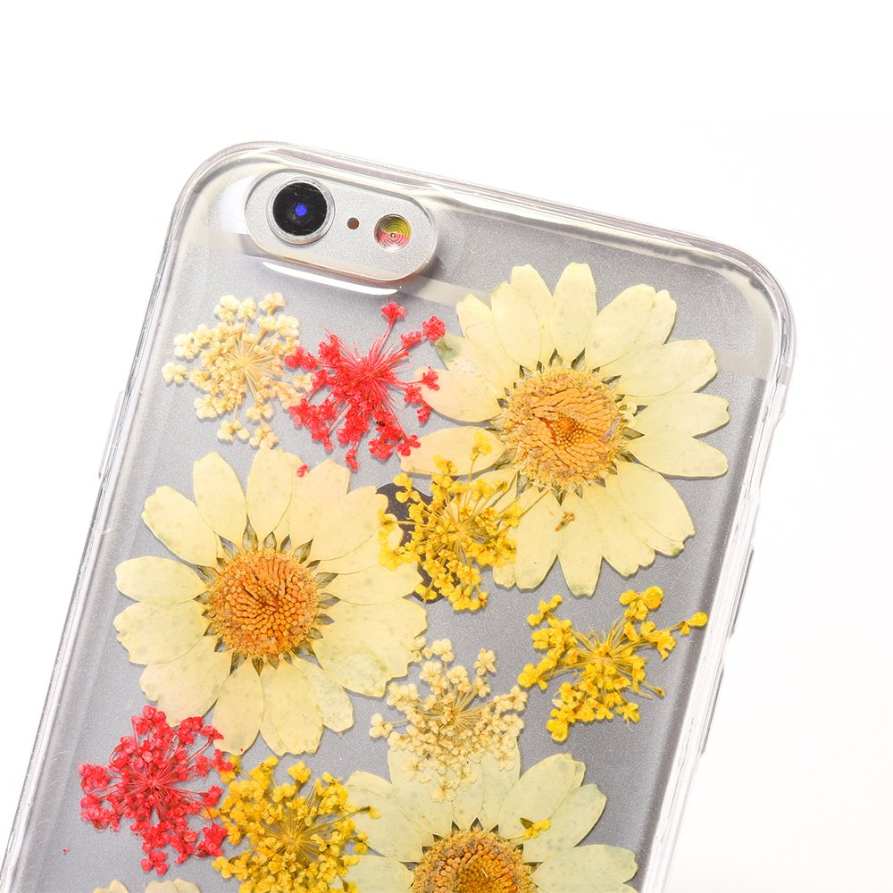 Pretty flower case for iphone 7 tipfly iphone 8 daisy floral real pretty flower case for iphone 7 tipfly iphone 8 daisy floral real pressed dry flowers cover mightylinksfo