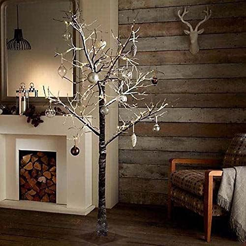 Artificial Christmas Trees Amazon Uk: 6ft White Birch Pre-Lit Christmas Tree: Amazon.co.uk