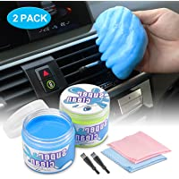 GEEMAI Car Detailing Cleaning Gel, Universal Car Interior Cleaner Automotive Dust Air Vent Crevice Putty Detail Kit Tools Removal Gel Mud Keyboard Cleaner for Auto Vent Laptop Home (2 Pack)