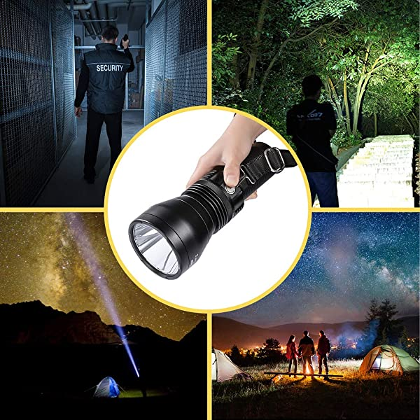 Best Small Flashlights-Niwalker Tactical Flashlight with Magnetic Swith, 2650 High Lumens Torch, IPX7 Waterproof Search Light