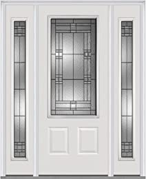 National Door Company Z021528L 3/4 Lite 2-Panel Roman Decorative Glass Fiberglass Smooth  sc 1 st  Amazon.com : national doors - pezcame.com