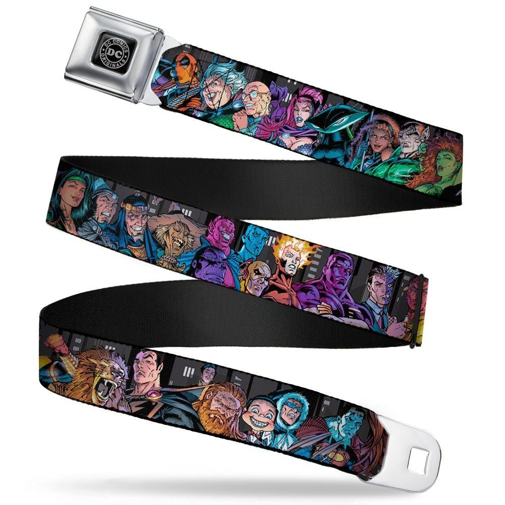 Buckle-Down Seatbelt Belt 24-38 Inches in Length Injustice League of America Issue #13 Villains 1.5 Wide