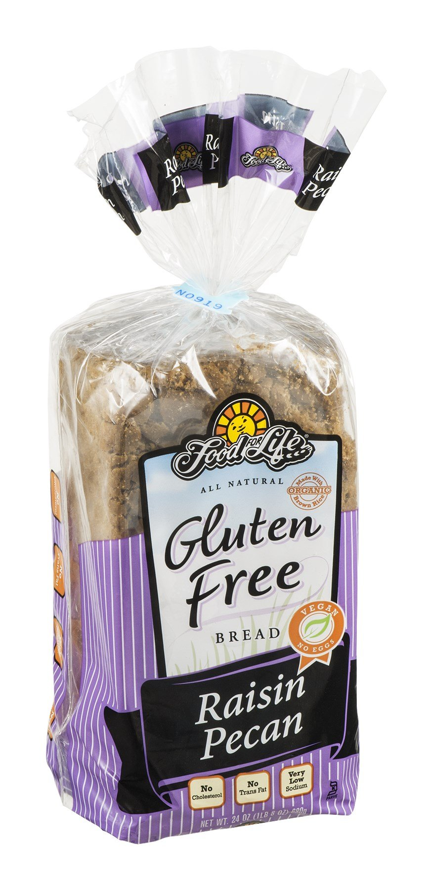 Food For Life Baking Raisin Pecan Bread, 24 Ounce -- 6 per case.