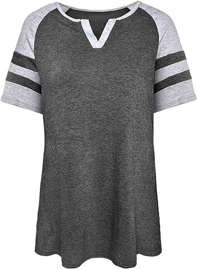 NEW Just  My Size 1X  Raglan S//S Notch Neck Striped Tee Top Gray /& White Stripe