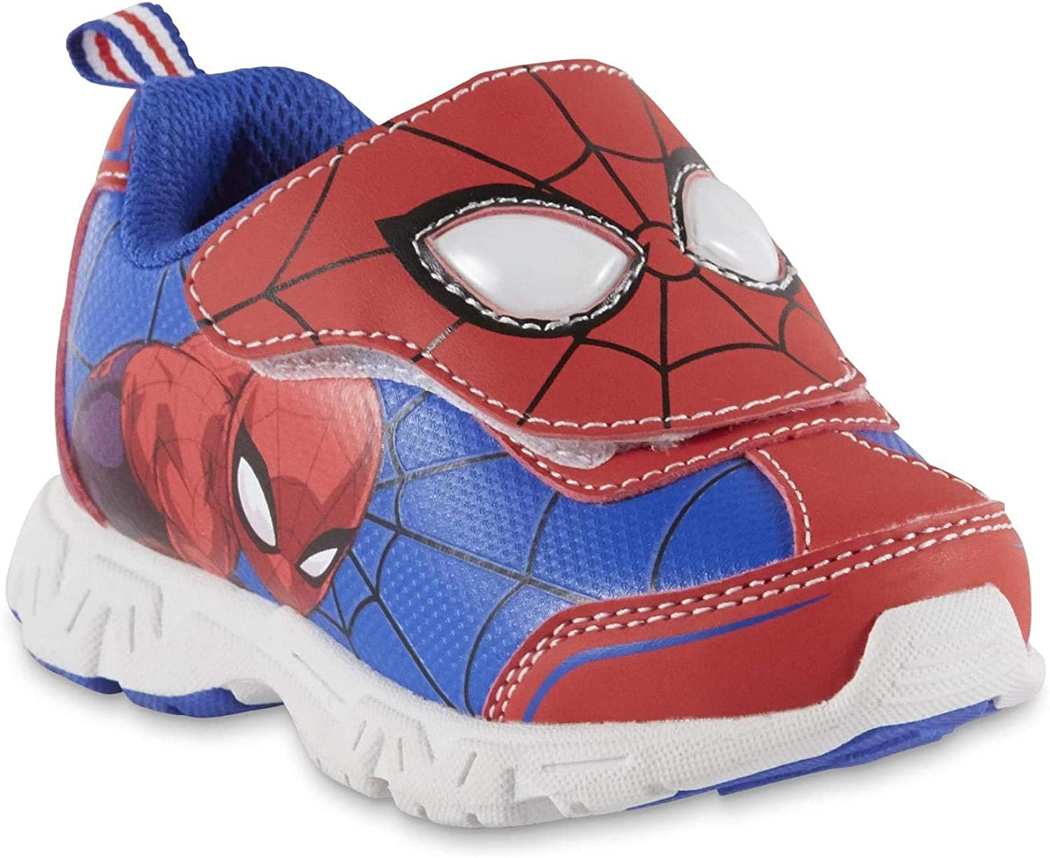 ULTIMATE SPIDERMAN Black//Red Light UpToddler Boys Shoes Web Design Sz 10 NEW