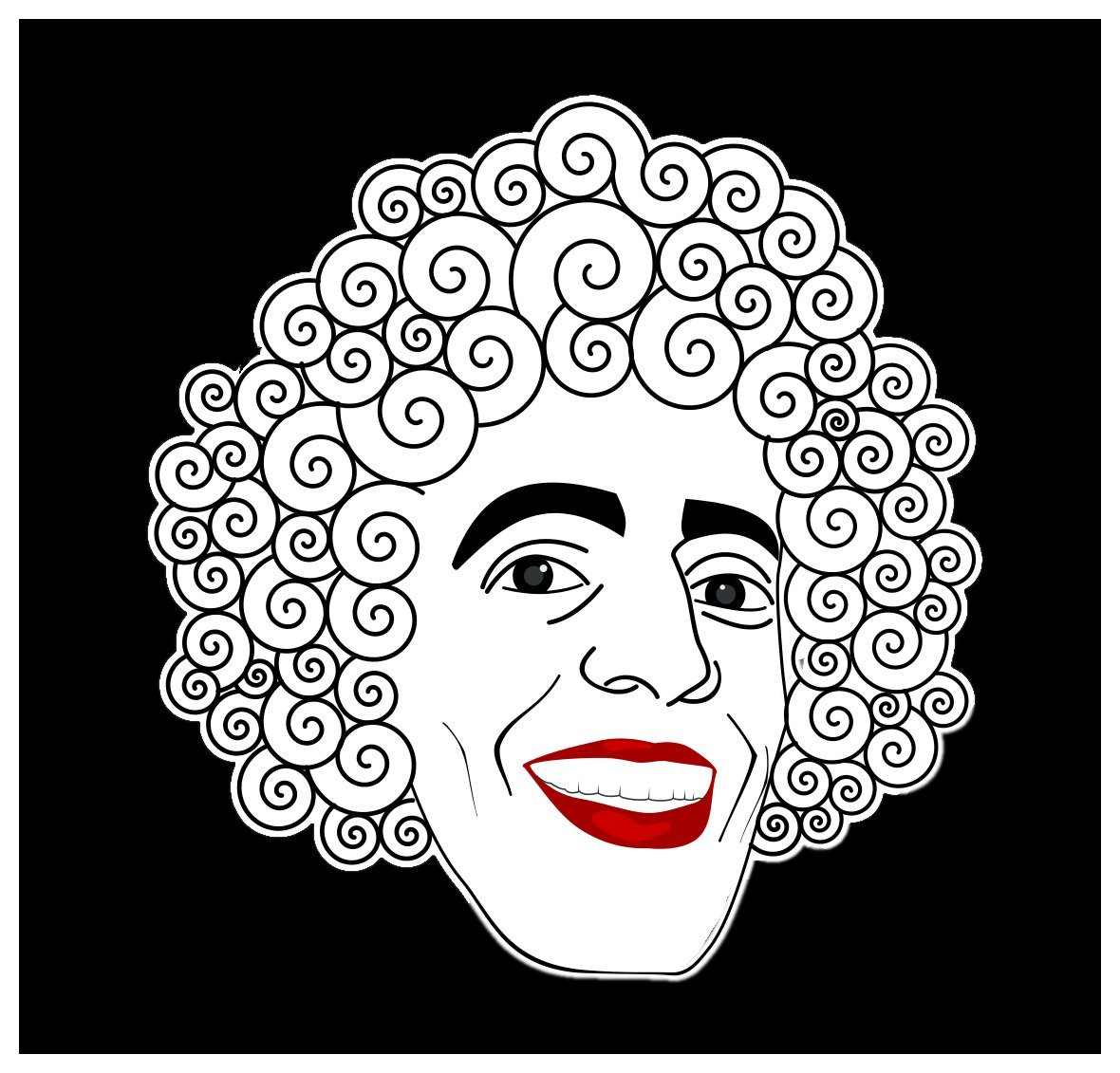 Amazon com comedy sticker creepy evil clown face crazy psycho weird strange freak fun gift everything else
