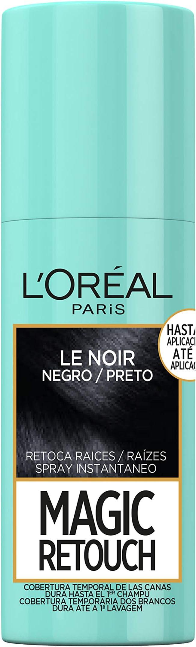 LOréal Paris Magic Retouch Spray Retoca Raices y Canas para Pelo Negro - 75 ml