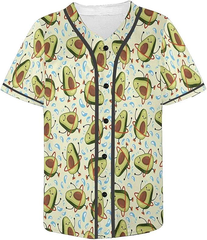 INTERESTPRINT Mens Casual Short Sleeve Baseball Shirt Jersey Shirts