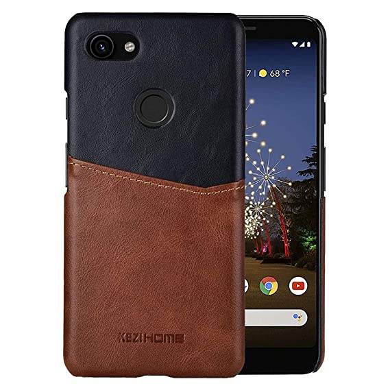 df3e22628672 Pixel 3a XL Case, Genuine Leather Card Holder Slot Wallet Case Cover for  Google Pixel 3a XL (2019) (Black)