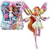 Winx Club - Tynix Fairy - Flora Poupée 28cm avec magique Robe
