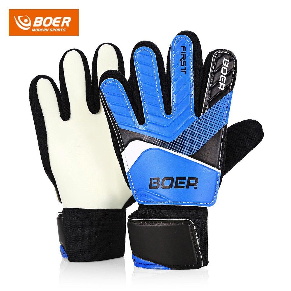 Entry-level children's goalkeeper gloves Non-slip gloves goalkeeper's soccer gloves Blue 6 SZYT 180331