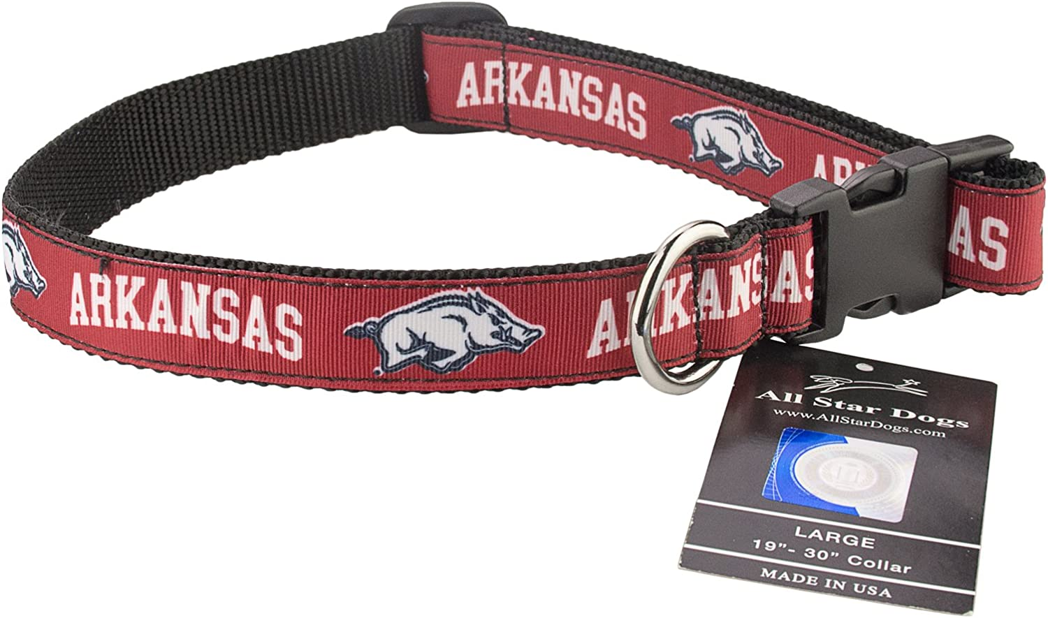 All Star Dogs NCAA Arkansas Razorbacks Dog Leash Cardinal