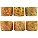 Vanda6549 Baking Cups Paper Molds Easter Bread Parchment Cupcake Muffin Liner Panettone Paska Kulich 6 x