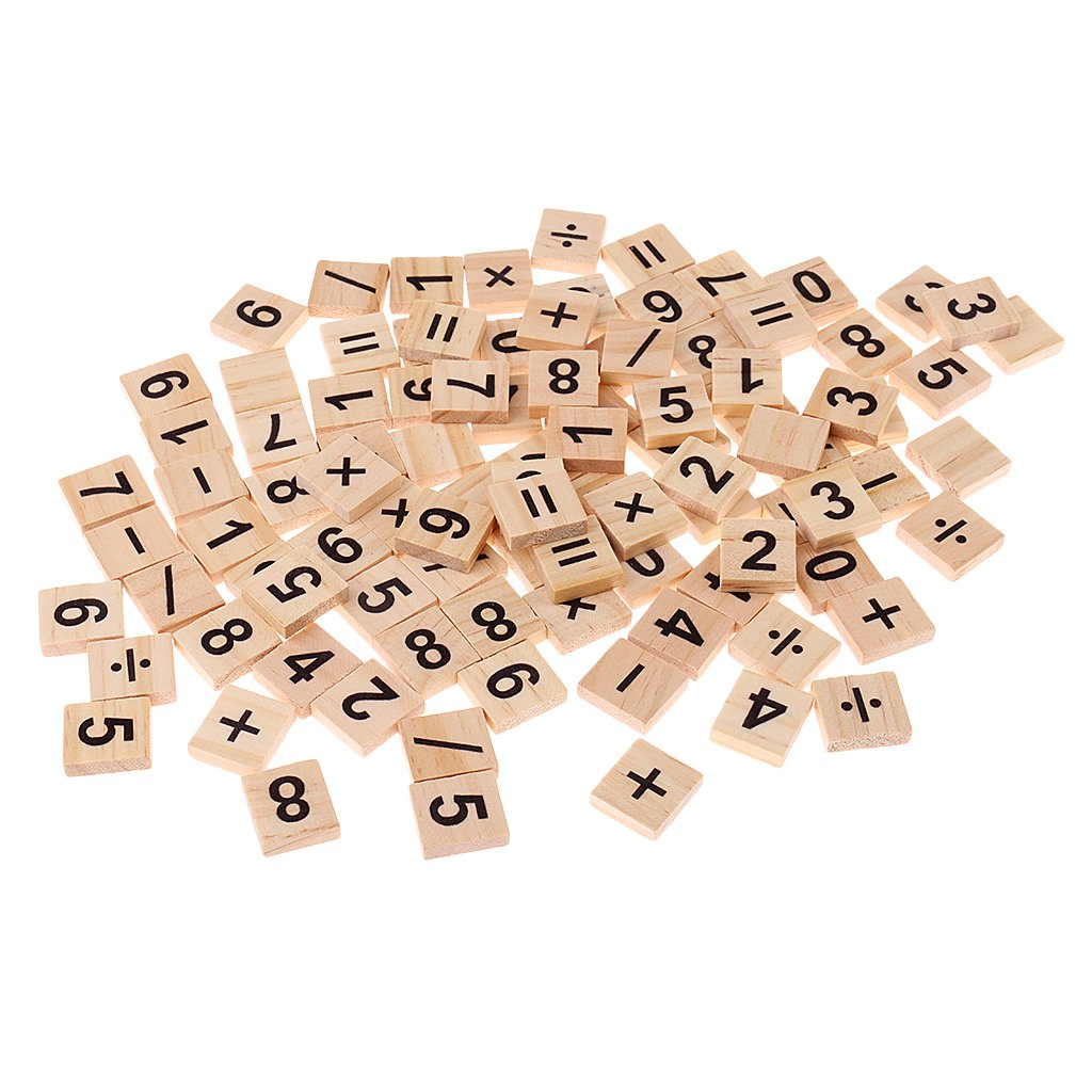 Gazechimp 100pcs Carte de Nombre 1-9 Chiffre Carré Casse-têtes en Bois Jouet Educatif Comptage Matériel Mathématique Préscolaire Formation pour Bébé Enfant