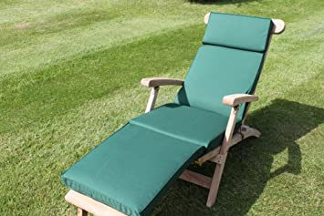 garden furniture cushion cushion for garden steamer chair in green