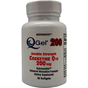 Amazon.com: Q-Gel® 200mg Double Strength Hydrosoluble™ CoQ10 ...