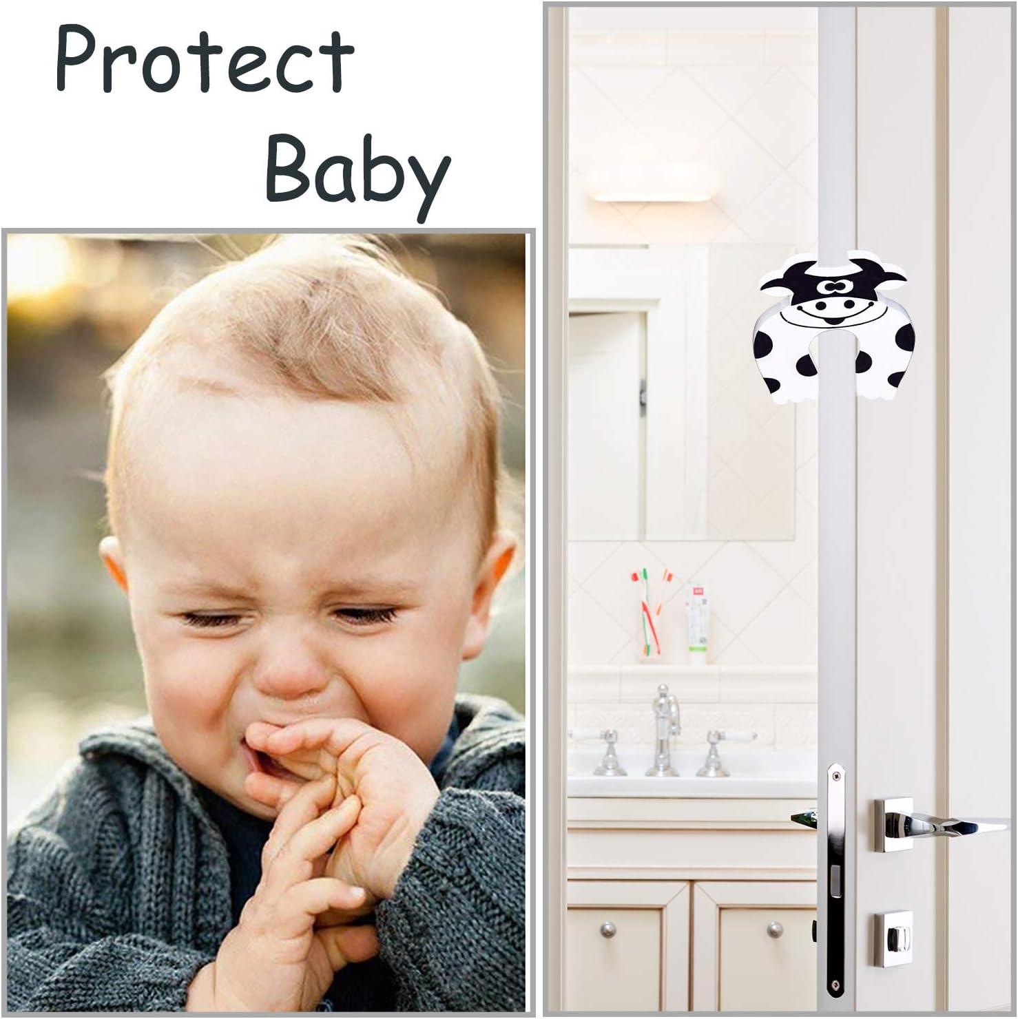 8 Protezione Angoli e 1 Fermaporta in Gommapiuma per Proteggere il Bambino o Giovani Bambini Beige Paraspigoli per Bordo 5m Protezioni per Bordi