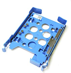 "FMT3P + 1MF7D Genuine Dell Precision T3600 3610 5600 5610 5810 7810 2.5"" HD Bracket Assy Caddy Adapter Blue Plastic Guide Rails Screws Clips Latch 1B3IP6000-600-G 1B31D2600-600-6 5VFMK HD Module Tray"