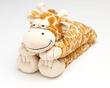Intelex - Calentador para el cuello, diseño de jirafa de peluche (se ...