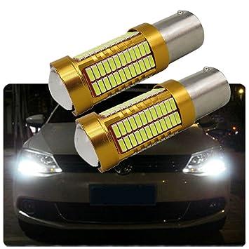 FEZZ Bombillas LED Coche Luz Diurna DRL S25 BA15S 1156 4014 106SMD CANBUS