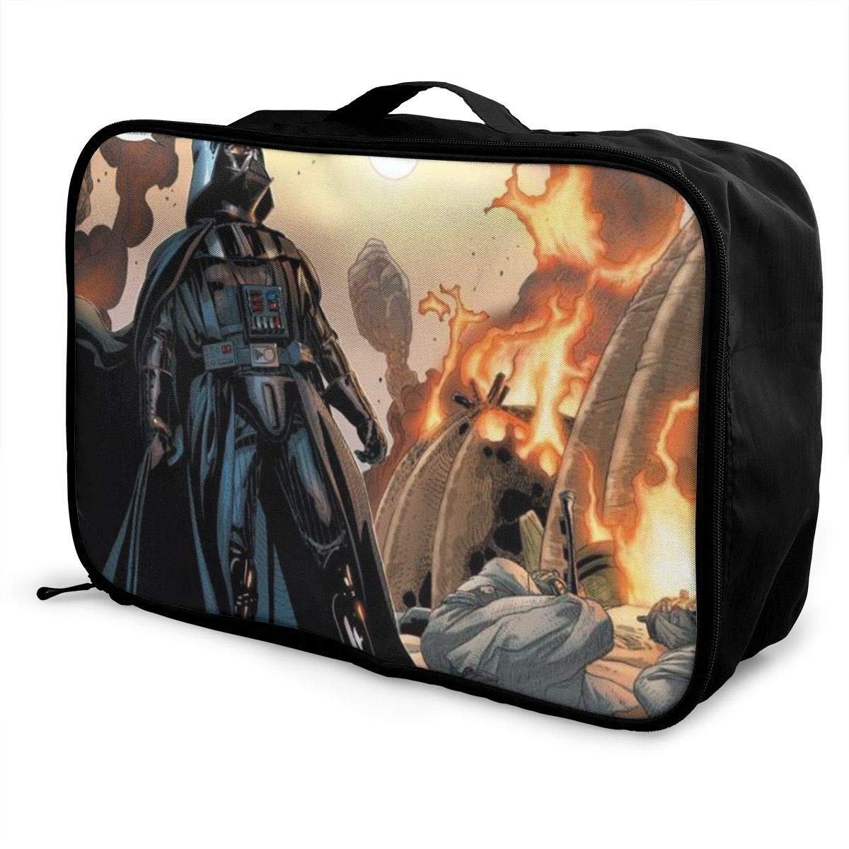 BOKAIKAI1306 Fierce D-Darth Vader Unisex Adults Fashion Lightweight Large Capacity Portable Large Travel Duffel Bag Mens Woman Luggage Bag 3D Printed Custom Boarding Box