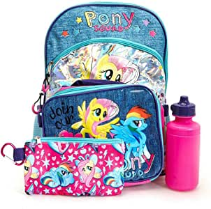 "MY LITTLE PONY 5 PC BACKPACK SET, 16""Hx12""Wx5""D"