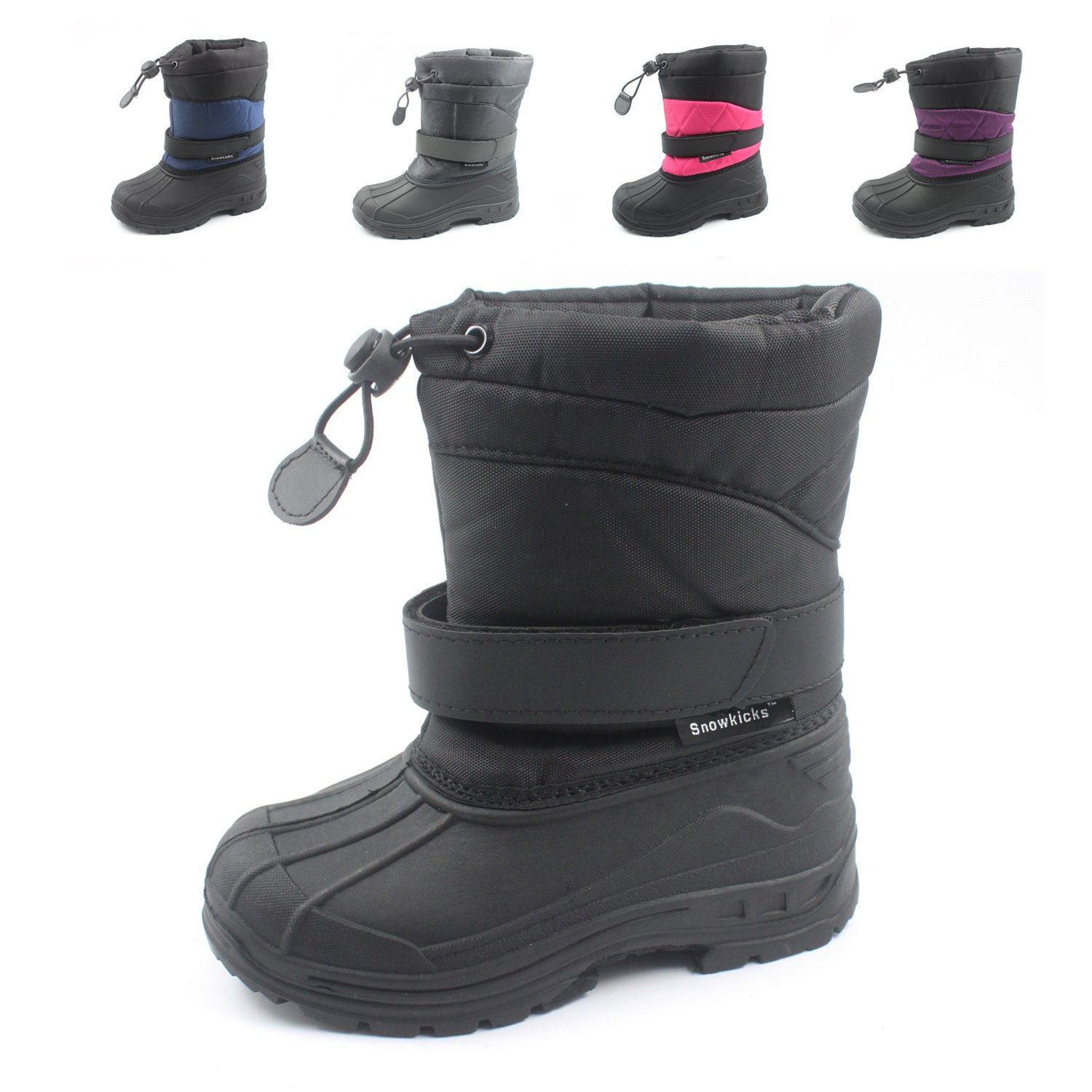 Snowkicks Cold Weather Kids Childrens Snow Boots Unisex (Toddler/Little Kid/Big Kid) Many Colors by SkaDoo