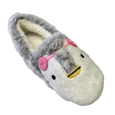 92be873da8a Character Novelty Fun Animal Soft Comfortable Padded Warm Plush Funny Big  Slippers with Grip Sole Dog Pug Unicorn Christmas Womens Ladies Mens Kids  Indoor ...