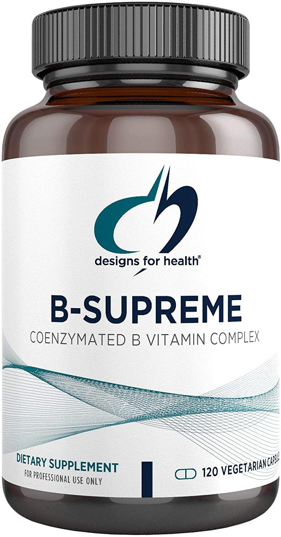 Designs for Health - B-Supreme B Vitamin Combination Formula, 120 Vegetarian Capsules