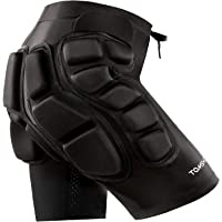 TOMSHOO 3D Protección de Cadera 2cm Pantalones Cortos Ligeros Transpirables Acolchados para Esquí Skate Snowboard…