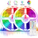 Boyko 32.8ft RGB Color Changing LED Strip Lights with Music Sync