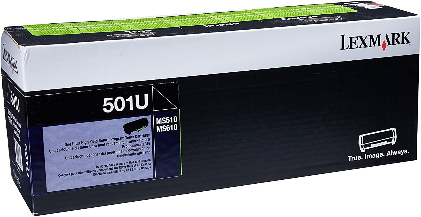 LEX50F1U00 Lexmark 501U Ultra High Yield Return Program Toner Cartridge