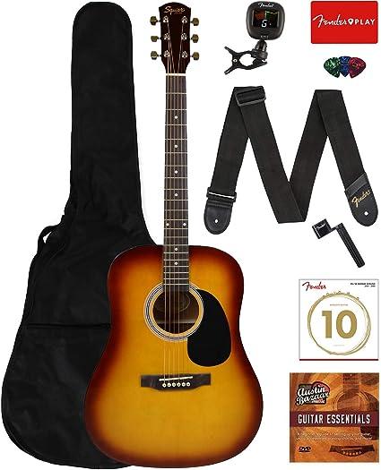 Fender FA-100/115/SA-150 - Guitarra acústica para principiantes ...